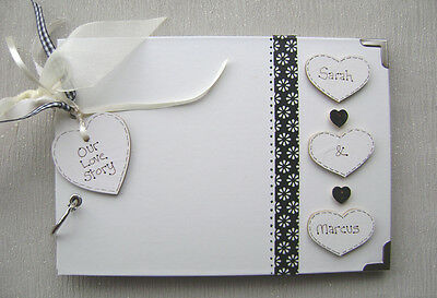 Personalised Our Love Story.a5 Size Photo Album/scrapbook/memory Book.