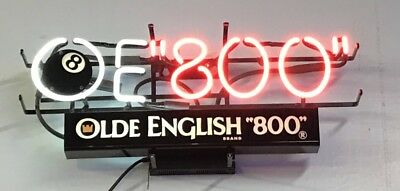 8 Ball Old English 800 Neon Beer Bar Light Made June 22, 1993 - Pabst