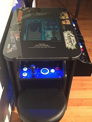 New Multicade Cocktail Arcade Machine with 1,162 Games & 2 Blue LED Trackballs