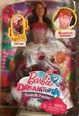 Barbie Dreamtopia Sweetville Princess Doll with Lights & Sounds