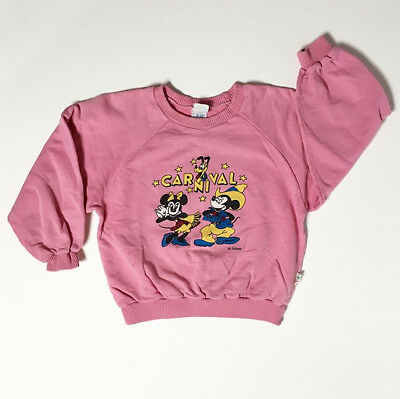 Rare 80s Disney Kids Mickey Minnie Sweatshirt Shirt Carnival Fair 5 6 FREE SHIP