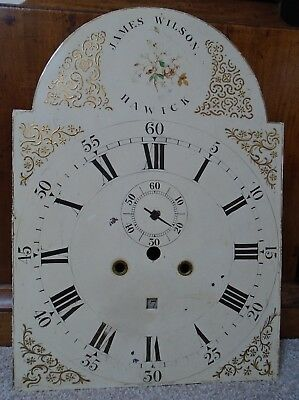 Georgian Painted Arched Dial (18x13 Inches) from 8 Day Longcase Clock Circa 1770