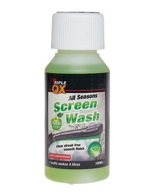 All Seasons Apple Screenwash Concentrated 100ml , makes  4 Litres UK DHL Post