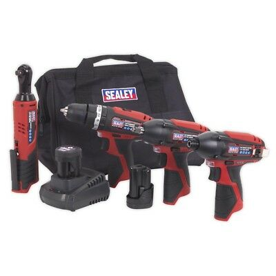 Sealey CP1200COMBO  -  CP1200 Series 4 x 12V Cordeless Tool Combo Kit