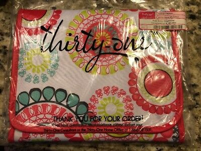 Thirty One Bags Fold It Up Organizer Citrus Medallion New