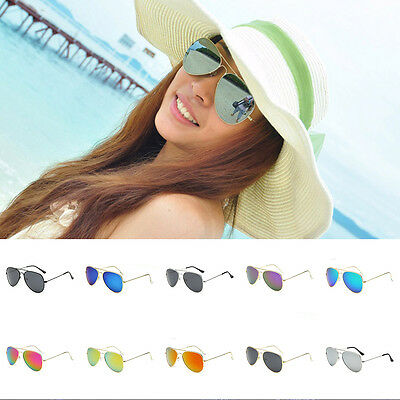 NEW Polarized Unisex Vintage Retro Women Men Glasses Aviator Mirror  Sunglasses