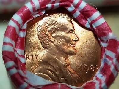1983 P  Obw Lincoln Memorial Cent Penny Roll Bu