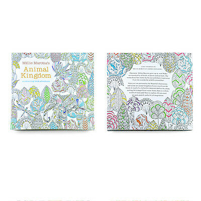 Children Adult Animal Kingdom Treasure Hunt Coloring Painting Book SZHKTH