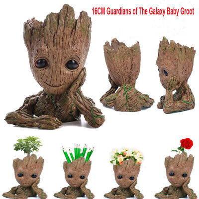 Guardians of The Galaxy Baby Groot Figure Flowerpot Pen Pot Toy Gifts 16CM PQ
