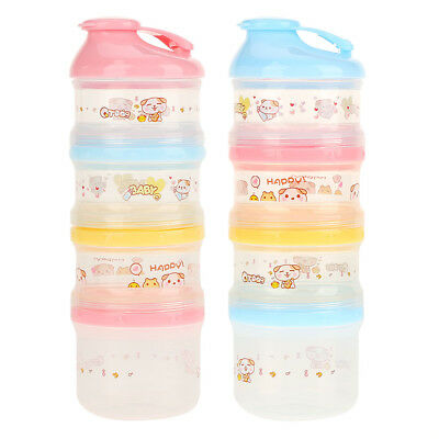 Kids Baby Travel Infant Milk Powder Food Storage Container Box Feeding Bottle