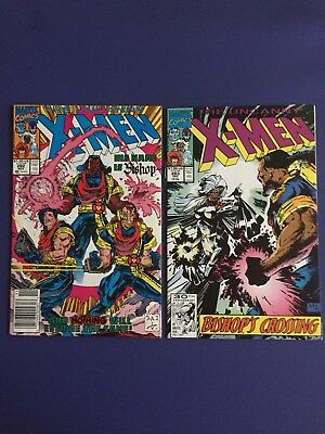 "Uncanny X-Men #282 & #283 ( Marvel 1991) 1st Bishop ""NICE"""