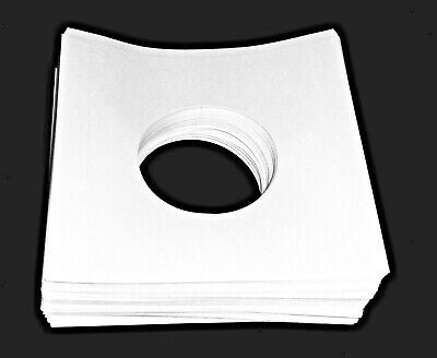 """20 sheets - White Paper Record Sleeves w/ Holes for 7"""" Records (45's)"""