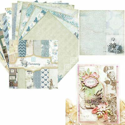 24 Sheets Vintage Scrapbooking Pads Paper Origami Cutting Dies Art Background