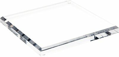 "Plymor Brand Clear Acrylic Square Beveled Display Base, .75"" H x 8"" W x 8"" D"