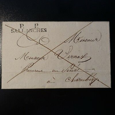 1829 Lettre Cover Marque Postale Pp Sallanches -> Chambéry
