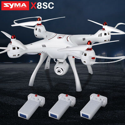 RC Quadcopter Drohne Syma X8SC 2.4G mit Gyro HD Kamera High Hover UK Stecker