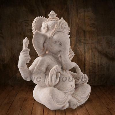 Ganesha Ganesh Maharaaj Hindu GOD Antique Sandstone Mini Statue Car Accessary UK