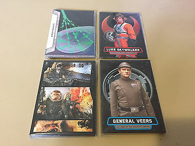 Star Wars Rogue One - Mission Briefing - Chase Card BULK LOT of 28 - 2016 - NM