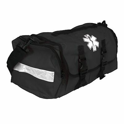 "First Responder EMT Paramedic On Call Trauma Bag W/ Reflectors- Black 17""x7x10"""