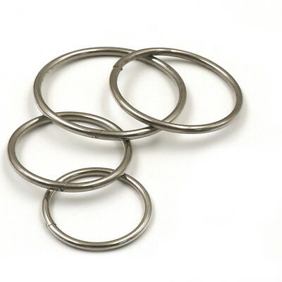 304 Stainless Steel Keyring Split Rings Metal Hoop Loop Key Holder 33 40 45 50mm