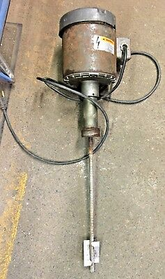Dayton Drum Mixer, Closed Drum, 1/3 HP,  low Viscous Liquids  1725 RPM