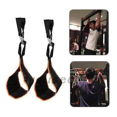 2pcs Gym Hanging Ab Straps With Quick Locks Fitness Sling Abdominal Straps YS