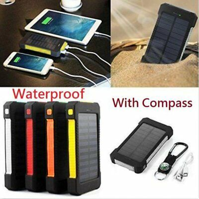 300000mAh Solar Power Bank Pack Portable 2USB Battery Charger For Mobile Phone M