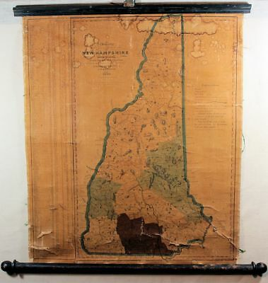 Rare 1833 New Hampshire Wall Map