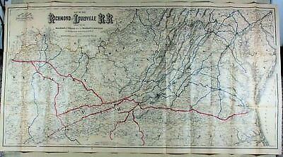 Colton's Superb 1882 Map for the Richmond & Louisville Railroad