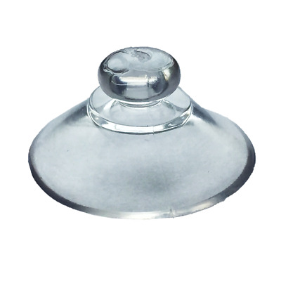 20mm Round Button Suction Cups-Window Suckers Clear PVC Plastic Rubber 6mm Studs