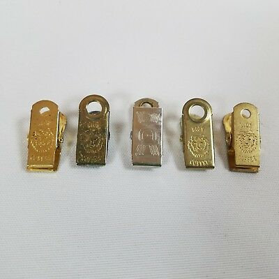 Vintage Lion Coffee Metal Clips 4 Advertising Crafting Pinch clip