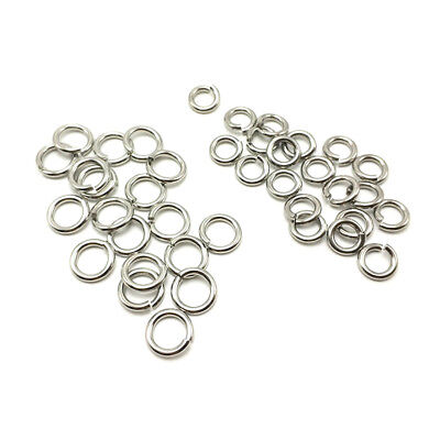304 Stainless Steel Open Jump Rings 6mm 10mm 12mm 15mm 17mm 18mm 20mm 25mm 30mm