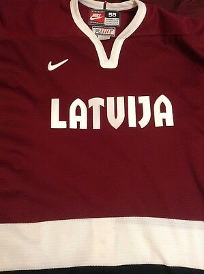Team Latvia IIHF Nike Hockey Jersey Size 58