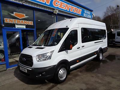 2015 Ford Transit 460 H/r Bus 17 Str Fitted With Tachograph  Minibus Diesel