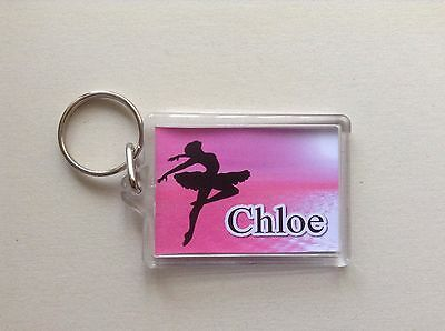 Personalised Keyring / Bag ID  -  Ballet Dancer  Design