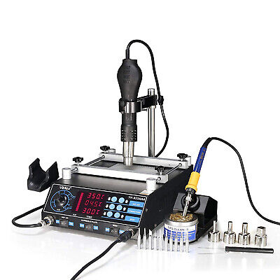 "Yh-853Aaa ""All In One"" Bga Hot Air Rework Soldering Iron Preheating Station 2018"