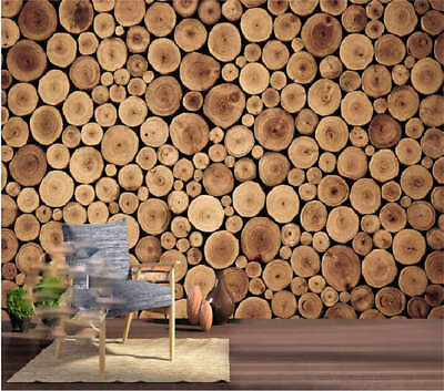 Tree Circular Rings 3D Full Wall Mural Photo Wallpaper Printing Home Kids Decor