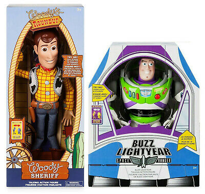 "Disney Toy Story 4 TALKING Cowboy Woody & BUZZ Lightyear 16"" Action figure Dolls"