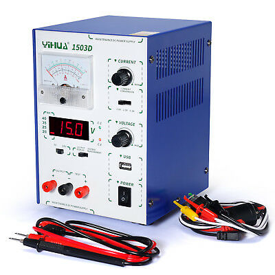 Yihua 1503D Usb Adjustable Dc Regulated 15V 3A Dc Bench Switching Power Supply