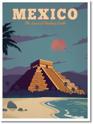 "Vintage Travel Poster MEXICO Photo Fridge Magnet Size 2""x 3"""