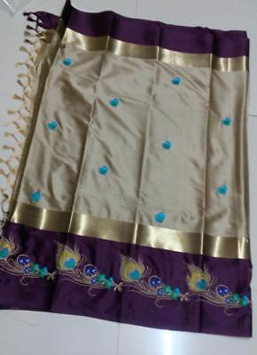 New Pakistani Indian Embroidered Saree Fancy Ethnic Designer Party Wear Sari
