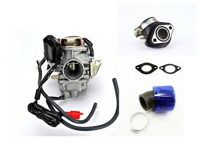 GY6 CARBURETOR WITH INTAKE MANIFOLD, SPACER AND AIR FILTER FOR 150cc SCOOTERS