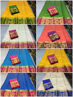 New Indian Pakistani Tussar Silk Saree Party Wear Ethnic Fancy Sari