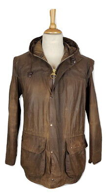 Barbour Mens A875 Classic Durham Wax Cotton Brown Hooded Jacket, 40""