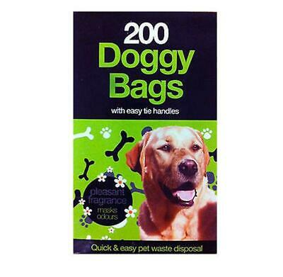 Doggy Bags Scented Dog Poo Waste Medium Pet Pooper Scooper Waste Tie Handles