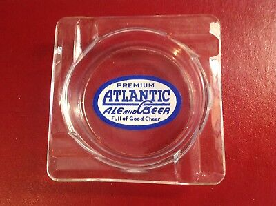 Atlantic Ale And Beer Glass Ashtray