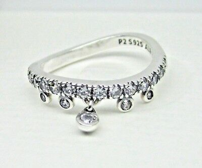 4b2c5fdb6 Authentic Pandora #197108CZ-52 Chandelier Droplets Ring with Clear CZ Size 6