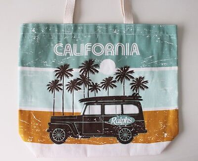 Ralphs Reusable Grocery Tote Bag Southern California Canvas Bag Made in USA