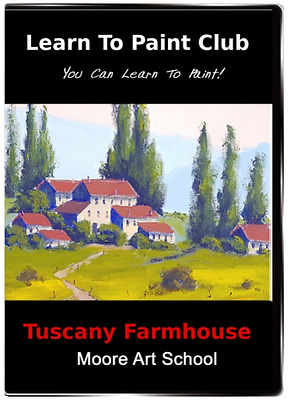 Acrylic Painting Instruction DVD 'Tuscany Farmhouse' Beginners Painting Lesson