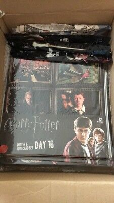 HARRY POTTER~ Ultimate Collection ~ Newspaper promo~3 Wands/Folder/Posters ~NEW
